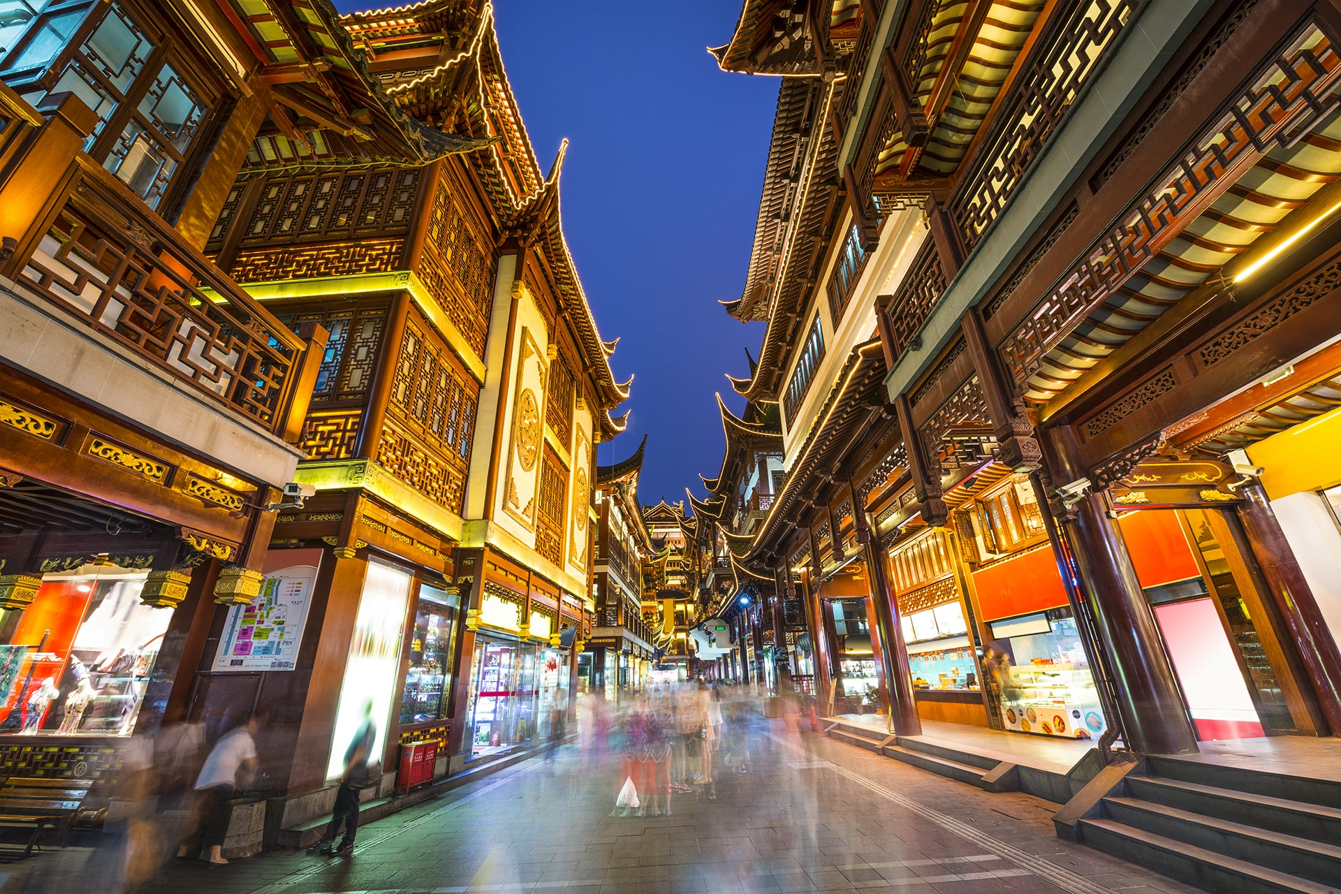 City Temple of Shanghai at night