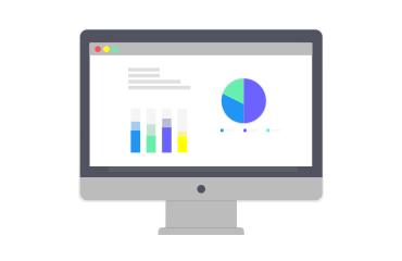 A computer screen showing economic data