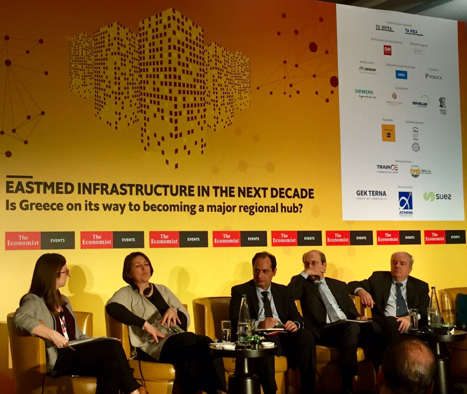 Emily Mansfield at The Economist Eastmed Infrastructure Conference