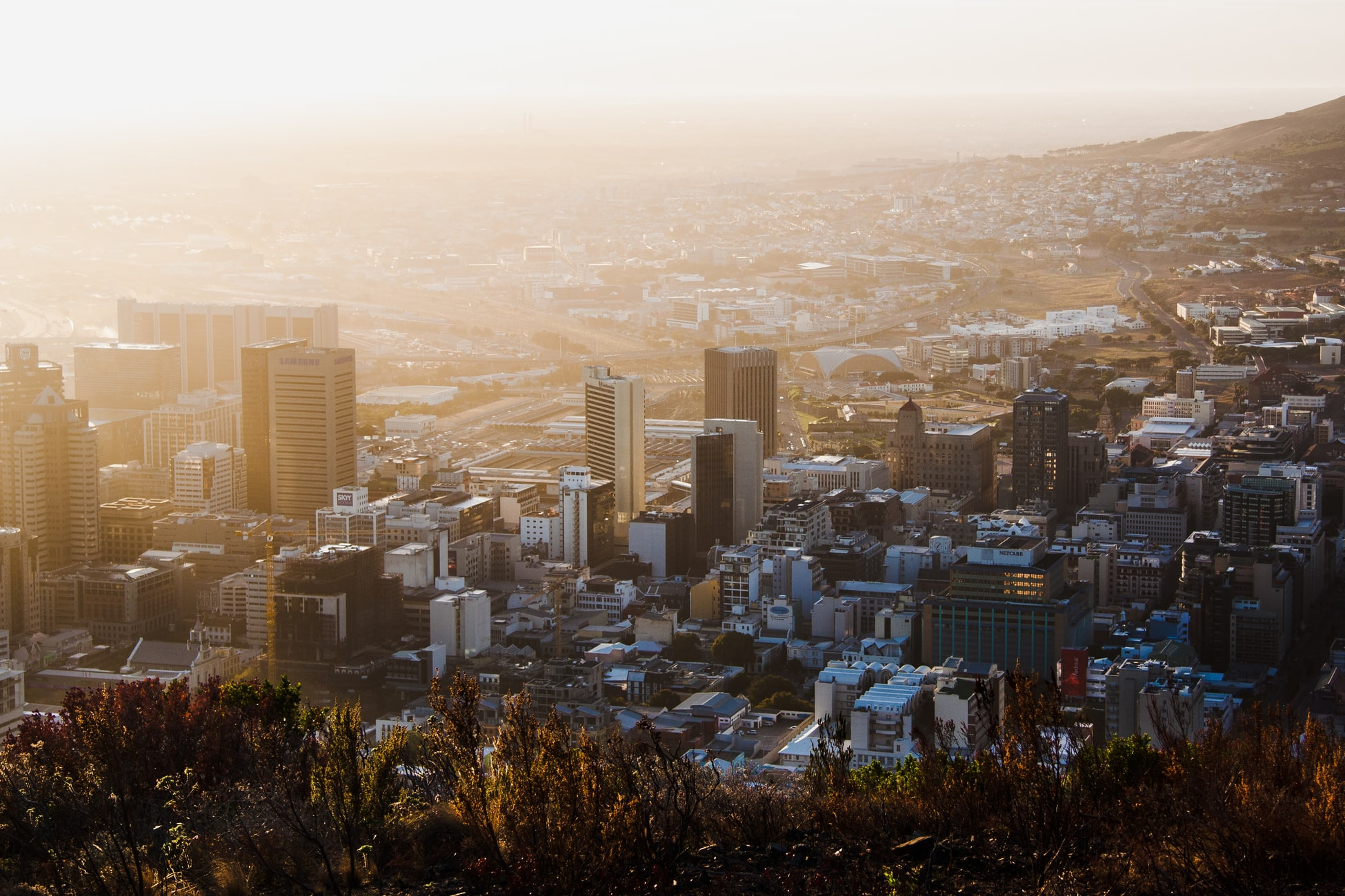Skyline of Cape Town, South Africa